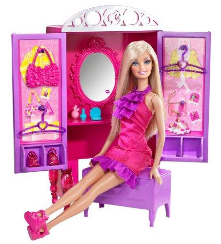 Barbie Dress-Up To Make-Up Closet and Barbie Doll Set