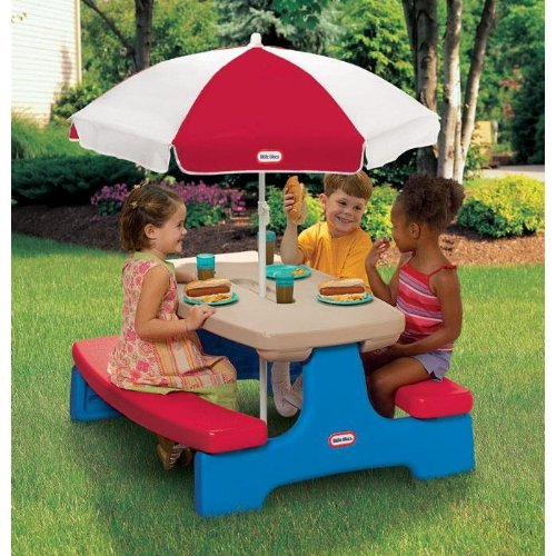 Little Tikes Easy Store Large Picnic Table with