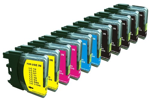 11 Pack. Compatible Cartridges for Brother LC-61.