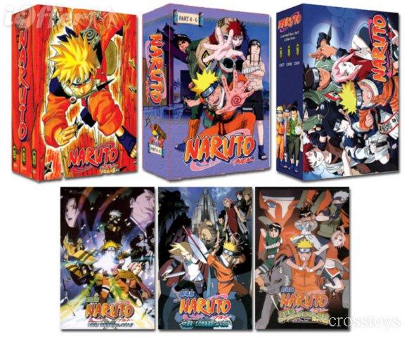 NarutoTV complete TV (1-220 + 3 Movies) DVD set EngSub