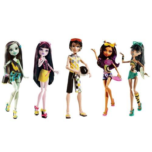 Monster High Gloom Beach Dolls Set of All Five