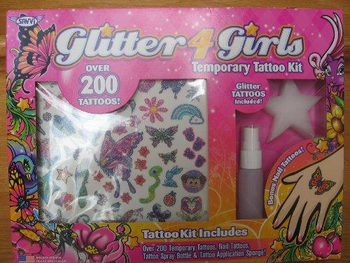 Glitter 4 girls Kit OVER 200 Temporary Tattoos for