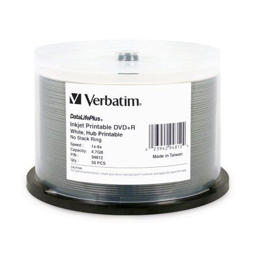 Verbatim DVD+R 4.7GB 8X DataLifePlus White Windows