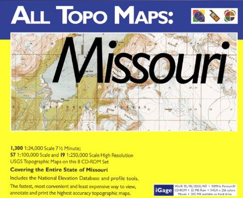 iGage All Topo Maps Missouri Map CD-ROM (Windows)
