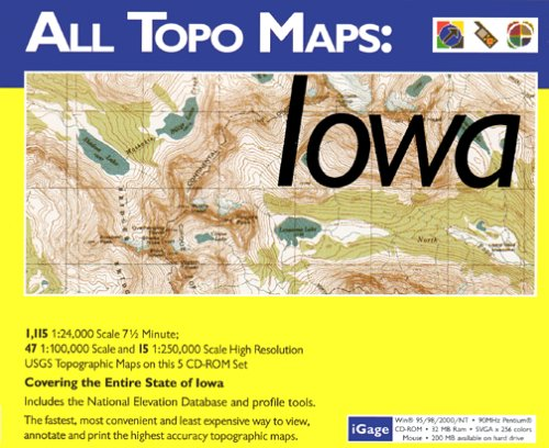 iGage All Topo Maps Iowa Map CD-ROM (Windows)