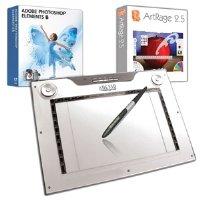12X7.25IN Widescreen Slim Media Graphics Tablet Windows