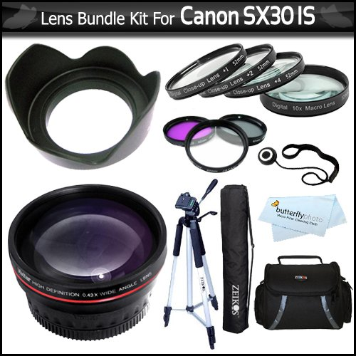 Lens Bundle Kit For The Canon SX30IS SX30 IS Digital