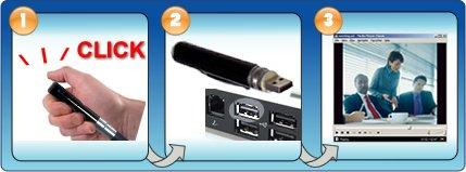 Covert USB Camera Pen - Mini Pinhole Color Security