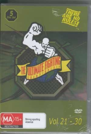 UFC 21-30 DVD Box Set - vols. 21 22 23 24 25 26 27 28