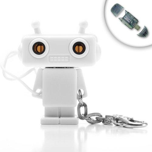 Premium 3.5 mm Robot Keychain Headphone Splitter for