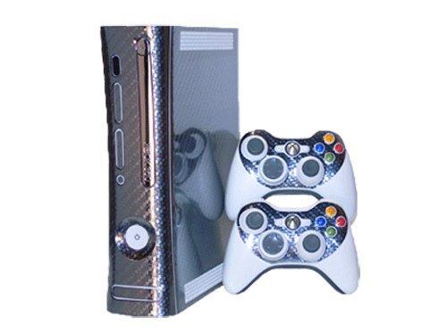 Xbox 360 Skin - NEW - CARBON FIBER system Xbox 360