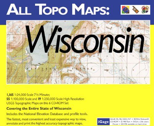 iGage All Topo Maps Wisconsin Map CD-ROM (Windows)