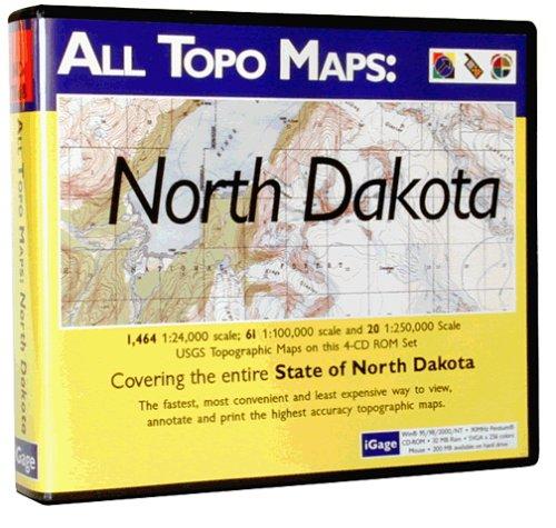 iGage All Topo Maps North Dakota Map CD-ROM (Windows)