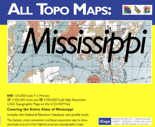 iGage All Topo Maps Mississippi Map CD-ROM (Windows)