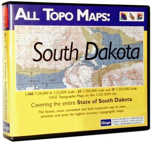 iGage All Topo Maps South Dakota Map CD-ROM (Windows)