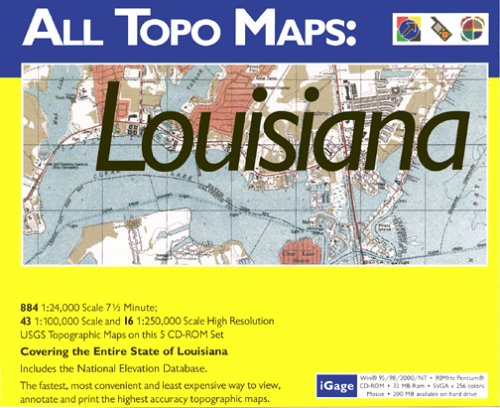 iGage All Topo Maps Louisiana Map CD-ROM (Windows)