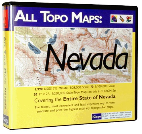 iGage All Topo Maps Nevada Map CD-ROM (Windows)