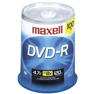 Maxell - 100 x DVD-R - 4.7 GB 16x - spindle - Windows
