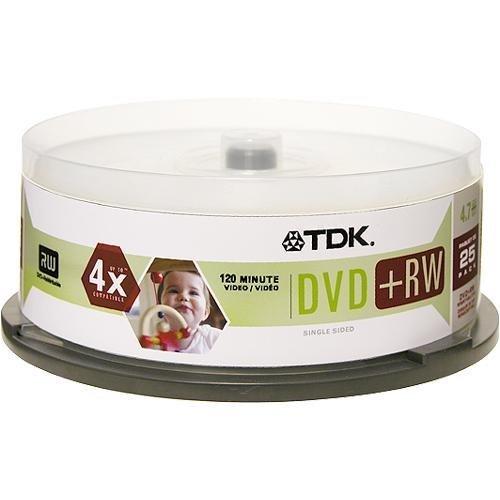 TDK DVD+RW 4x 4.7GB (25-Pack Spindle ) Windows
