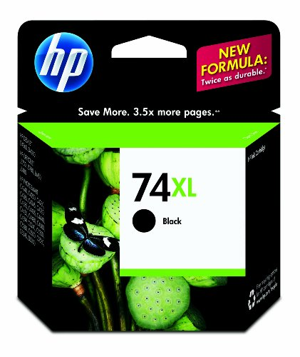 HP 74XL Black Ink Cartridge in Retail Packaging Windows