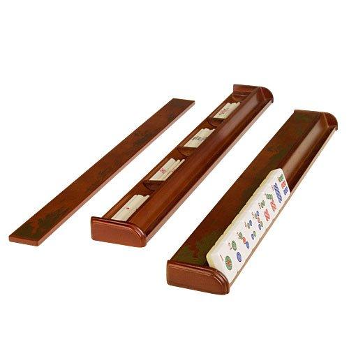 4 Wood Mahjong Racks w/ Pushers Mah-jong Game Set