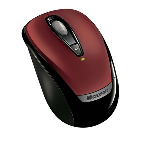 Microsoft Wireless Mobile Mouse 3000 - Red Windows