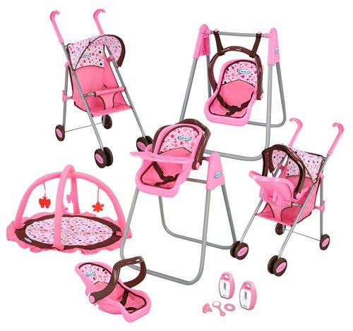 Graco Play Set - Stroller with Canopy, Swing / High