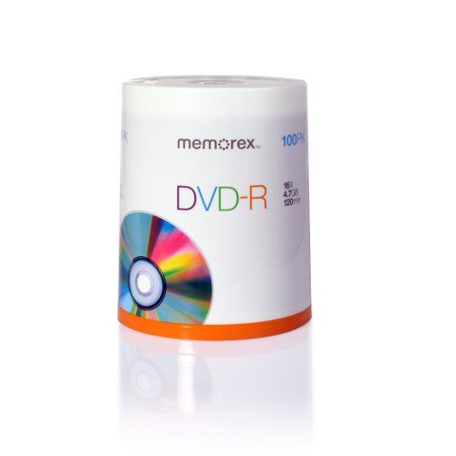 Memorex DVD-R 16x 4.7GB 100 Pack Spindle Windows