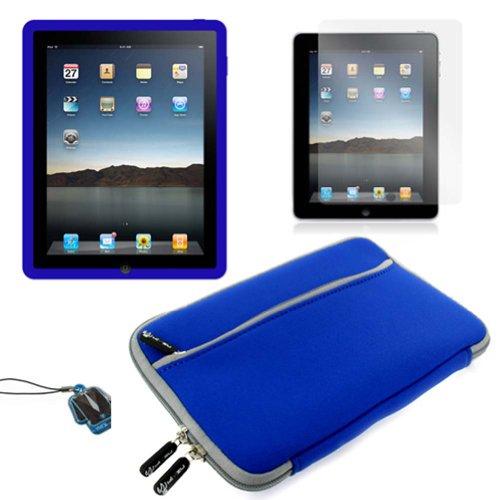 (Dark Blue Skin) Apple iPad skin silicone case /