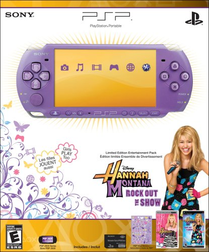 PSP 3000 Limited Edition Hannah Montana Sony PSP