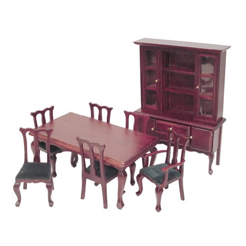 Dollhouse Miniature 8-Pc. Simpson Dining Room Set