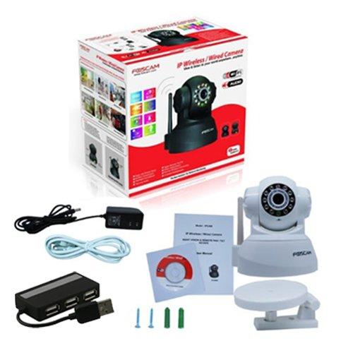 White Genuine Foscam FI8918W wireless wifi ip camera