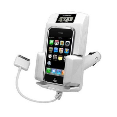 Apple Ipod 5-in-1 White Fm Transmitter Car Kit with