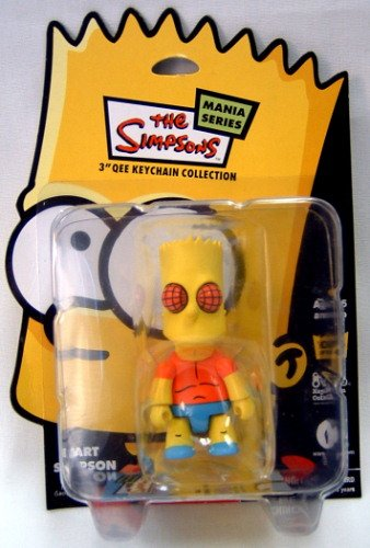 "Qee: Bart Simpson ""Mania Series"" Fly Eyes Keychain"