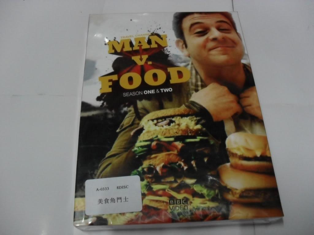 MAN VS FOOD Seasons1-2(8DVD Sealed Boxset)