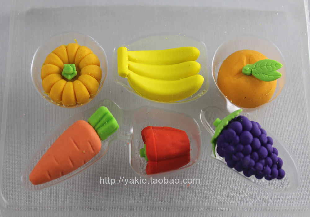 Free Shipping/Retail and wholesale/ Korean stationery/Lovely fruit eraser/Christmas gift/2011new School supplies