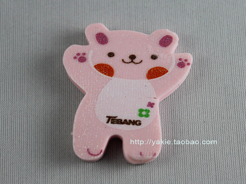 Free Shipping! Retail and wholesale lovely eraser/Christmas gift/2011new School supplies