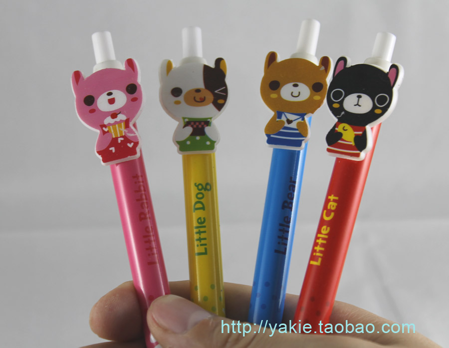 Free shipping Little Bear mechanical pencil set/kids stationery+wholesale and retail