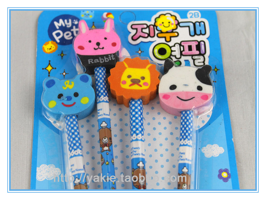 Free shipping cartoon pensil set/kids stationery+wholesale and retail