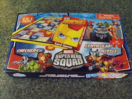 Marvel Super Hero Squad 3 in 1 Fun (Checkers-Card