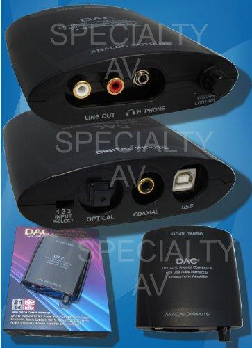 Digital Optical Coax to Analog Stereo Audio Converter,