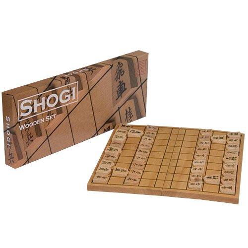 Wooden Shogi Game Set Japanese Chess Folding Board