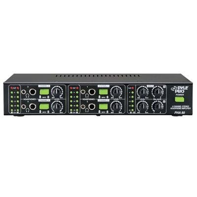 Pyle-Pro PHA80 4-Channel Stereo Headphone Amplifier