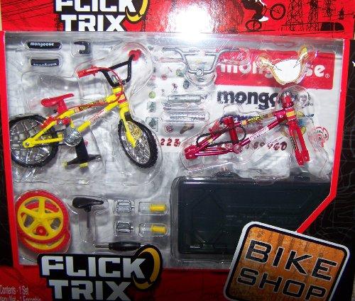 Flick Trix Finger Bike Shop Yellow Red Mongoose [Toy]