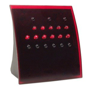 Powers of 2 BCD Binary Clock with Red Lights (Red)