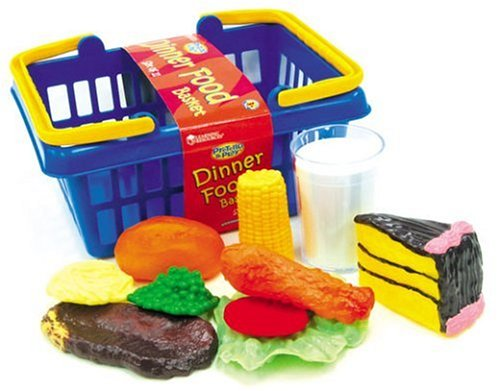 Learning Resources Dinner Foods, Set of 11 (Colors May
