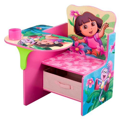 Nickelodeon's Dora Chair Desk with Pull out under the