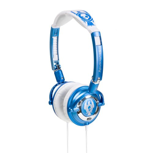 Skullcandy S5LWBZ-UW Lowrider Headphone, (Blue/White)