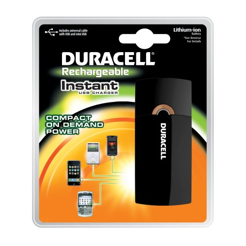 Duracell Instant USB Charger with Lithium ion battery