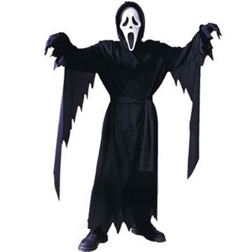 Ghost Face Scream Mask Hooded Robe Child Costume